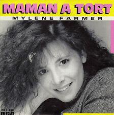 MYLENE FARMER MAMAN A TORT / INSTRUMENTAL FRENCH 45 SINGLE