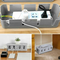 Cable Tidy Box Case Wire Cable Management Socket Safety Storage Organizer W8H