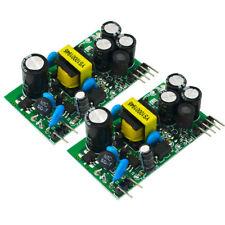 2PCS AC-DC Módulo de Fuente de alimentación de Salida Dual aislados salida 12V+5V