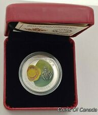 2014 Canada 25 Cent Coloured Coin - Water-Lily And Leopard Frog #coinsofcanada