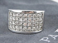 Channel Set Cubic Zirconia Pave Ring Htf Rare Sz 8 Silpada R1405 Sterling Silver