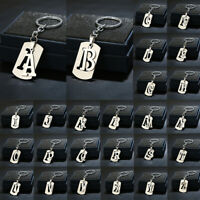 Stainless Steel A-Z Letters Key Chain 26 Letters KeyChain Men Women Keyring GN_N