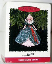 1995 Handcrafted Hallmark Holiday Barbie Ornament Collector's Series Never Used