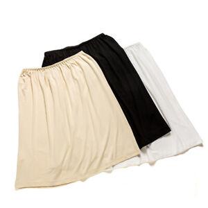 Lady Modal Half Slip Safety Skirt Dress Petticoat Underskirt Underdress Midi New