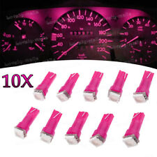 10x Pink Purple T5 74 37 73 1SMD Instrument Speedo Dash LED Light for Mitsubishi