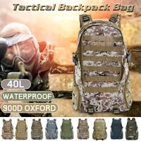 45L Outdoor Military Rucksacks Tactical Backpack Camping Hiking Trekking Bag