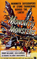 Vintage Horror Movie 11x17 Poster The Monolith Monsters