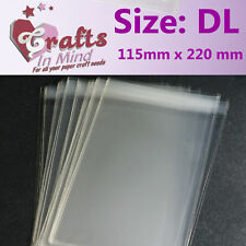 100 - DL Cello Bags Self Seal for Greeting Cards