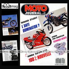 MOTO JOURNAL N°909 MOTOBECANE Z 54 C, SIDE-BIKE YAMAHA FJ 1200 YZ 125 & 250 1989