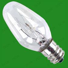 6x 7W Lampe Veilleuse de Rechange Mini Ampoules E12 Vis Ses