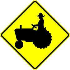Tractor crossing sign - 24 x 24. A Real Sign. 10 Year 3M Warranty.