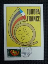 France MK 1973 EUROPE CEPT Strasbourg maximum Carte CARTE MAXIMUM CARD MC c2492
