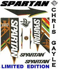 Latest Spartan CG Chris Gayle Limited Edition 2017 English cricket bat sticker