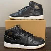 Air Jordan 1 Mid 'Royalty Black' GS Size 7Y Retro Og Dunk High Low Sb Air Force