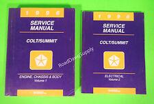 1996 Dodge Plymouth Colt Eagle Summit Wagon Service Shop Repair Manual Book Set