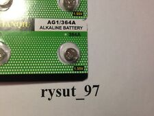 Ag1 364A 364 Sr621Sw Lr621 Lr60 Cx60  Alkaline Watch Battery   Usa