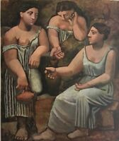 PABLO PICASSO, Girls At The Fountain Vintage, Offset Lithograph 1946  Unsigned