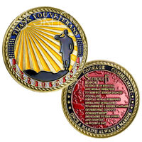 USMC Challenge Coin Marine Corps Veterans Creed Honor Collectible Gift Semper Fi