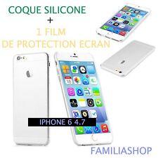 Housse étui pochette coque transparent gel silicone iphone 6 4.7 + 1 film écran