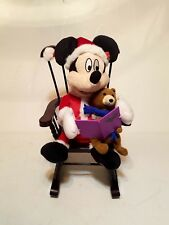 Mickey Mouse Rocks in Rocking Chair & Reads Twas the Night Before Christmas