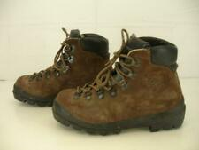 Mens 7.5 40 Scarpa Italy Brown Suede Leather Mountaineering Hiking Boots Lace-Up