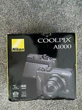 NEW NIKON COOLPIX A1000 16MP 4K ULTRA ZOOM DIGITAL CAMERA BLUETOOTH WI FI