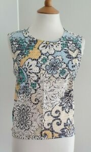 ZARA - FLORAL COTTON SHELL TOP - SIZE LARGE - EXCELLENT CONDITION