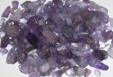Amethyst undrilled mini hand cut chips embellishment gemstones 50 grams