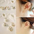 Jewelry Ear Cartilage Clip On Pearl Earring Ear Cuff Wrap No Piercing