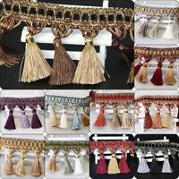 1M 10Colors DIY Curtain Cord Tassel New Beaded Fringe/Trim Sewing/Costume/Crafts