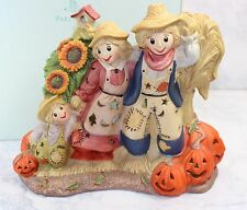 PARTYLITE SCARECROW in PUMPKIN PATCH Fall Halloween Tealight Candle NEW P7323
