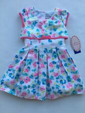 SALE! NEW Jona Michelle Toddler Girls Dress 3T Easter Pink Floral Spring