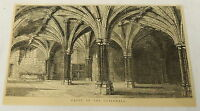 1884 magazine engraving ~ CRYPT OF THE GUILDHALL ~ London