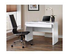 Contemporary Gloss Office Desk Workstation Furniture Hidden Drawer Home Computer