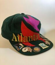 ATLANTA OLYMPIC GAMES 1996 CAP HAT THE GAME W/ SEVEN COLLECTIBLE PINS