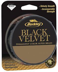 BERKLEY BLACK VELVET - 110m & 300m Spools - All Sizes 0.08-0.30mm