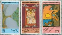 French Polynesia 1990 Sc#549-551,SG599-601 Polynesian Legends set MNH/MLH