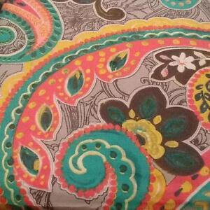Cynthia Rowley Twin XL Medallion Boho Duvet Cover Set Pillow Sham PinK Blue Gray