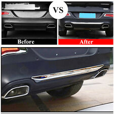 Chrome Rear Lower Bumper Lid Cover Protector Trim FitFor Jeep Cherokee 2014-2017