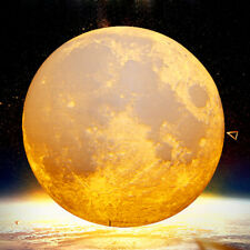 3D Moon Lamp Moonlight USB LED Night Lunar Light Touch Color Changing Love Gift