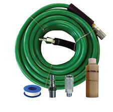 "Hitachi Compressor Kit 19700 w/ 50 Foot x 3/8"" PVC Air Hose, Fittings, Oil, Tape"