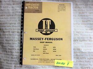 Massey-Ferguson I&T Shop Service Manual TO35 F40 MH50 MHF202, MF35,MF204, MF-14