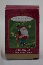 Hallmark Keepsake Ornament Santa's Day Off date 2001