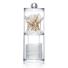 2 IN 1 CLEAR COTTON PAD BUBS SWAB DISPENSER HOLDER CONTAINER MAKEUP ORGANISER ST