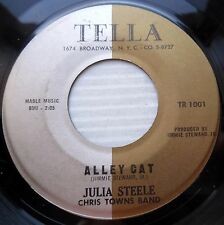 JULIA STEELE & CHRIS TOWNS BAND popcorn r&b 45 ALLEY CAT WHAT'S IN IT FOR ME dm2