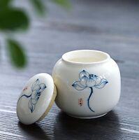 Matt ceramic tea caddy Ceramic Canister Chinese tea ceremony Crafts tea Tea cans