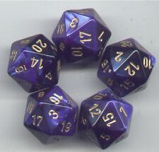 NEW RPG Dice Set of 5 D20 - Chessex Gemini Black-Blue