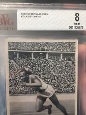 1936 Reemstma #33 Jesse Owens Rookie RC BGS BVG 8 Olympic Games Track Field