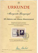 FRANCOBOLLI 1991 GERMANIA MOZART REP.FEDERALETEDESCA FOGLIETTOSUDOCUMENTO D/9624