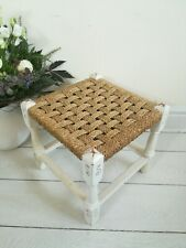 Vintage Retro Seagrass Rattan Rush Woven Foot Stool